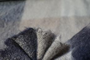 Schurwollmischung - beiges Karo