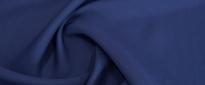 Schurwolle mit Viskose - dunkelblau