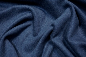 Schurwolle mit Kaschmir - saphirblau