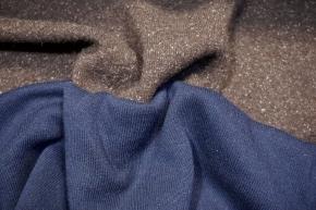 Doppelseitiger Strick - braun/blau