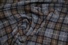 Rest Schurwolle mit Leinen - grau und braun