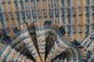 Schurwollmischung - ecru, türkis