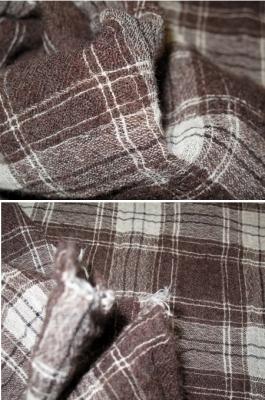 Glencheck in Crinkle Qualität