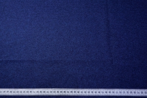 Schurwollmischung - blau/schwarz