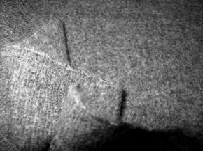 Schurwollmischung - grau meliert
