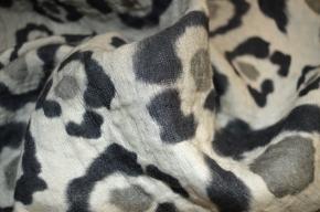 Schurwollmischung - animal print
