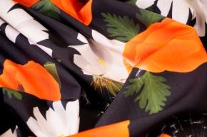 Baumwolle - großzügige Blumen