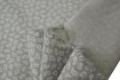 Baumwolle - weiß auf grau