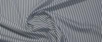 satinierte Baumwolle - blaue Streifen