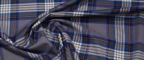 Baumwolle - blaues Tartan