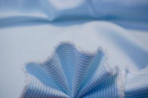 Baumwolle - hellblau gestreift