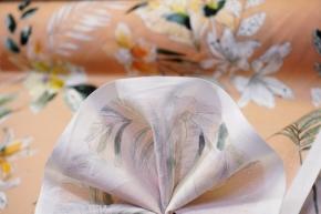 Baumwolle - floraler Print auf beigerot