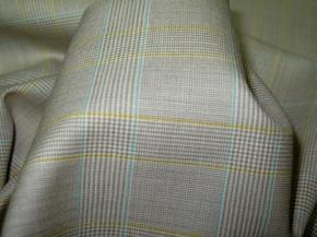 Glencheck - beige und bleu