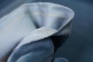 Baumwollsamt - blaugrau
