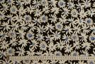 Baumwollstretch - Blumen mit blau