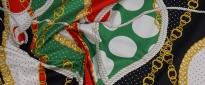 Baumwollrapport - rot und grün