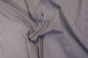 Baumwollstretch - dunkelbraun gestreift