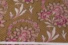 Baumwollcloque - dunkles gold mit Blumen