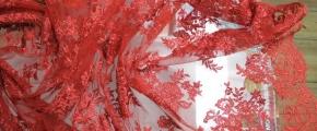 Spitze, Viskose-Nylon in rot