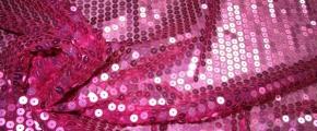 Paillettenbestickter Tüll - pink