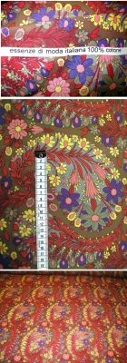Baumwolle - Floralmotiv auf braun