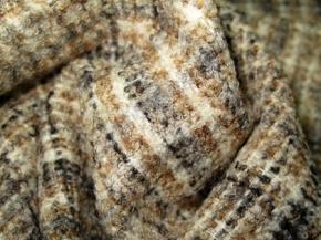 Schurwollmischung Karo in beige/grau