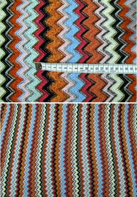 Missoni-Stil, orange und Pastelltöne