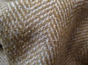 Schurwollmischung, beige und weiß