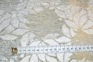 Spitze - weiß mit silber