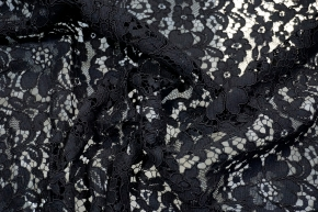 Webspitze - florales Muster, schwarz