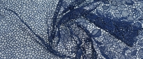 Spitzenborte - dunkelblau, 67 cm