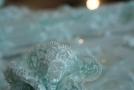 bestickte Spitze - eisblau