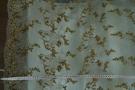 Gimpenspitze mit Pailletten - mint/gold