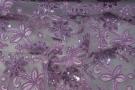Gimpenspitze mit Minipailletten - lila
