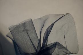 Tüll - 3m breit, dunkelblau