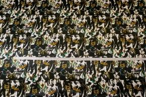 satinierte Viskose - Hunde