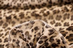 Viskosechiffon - animalprint