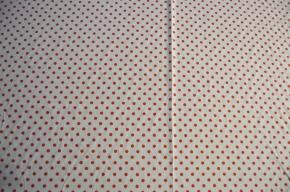 Polka Dots - orange auf weiß