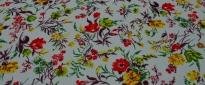 Viskose - bunte Blumen
