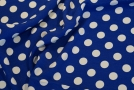 Viskose - Polka dots auf königsblau