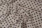 Viskose - schwarze polka dots