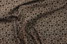 Viskose - schwarz mit Kreisen