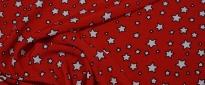 Viskose - Sterne auf rot