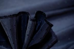 Pünktchenrips - schwarz