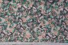 Viskose - grüne Ringe auf rosa