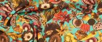 Viskosestretch - Blumen und Früchte