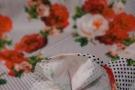 Viskosejersey - Rosen mit polka dots