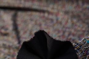 Jersey - buntes Muster auf schwarz