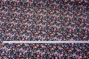 Max Mara - Blumen auf dunkelblau