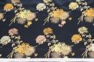 Satinierte Viskose - Blumen